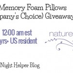 Nature's Sleep 2 Memory Foam Pillows Giveaway (Ends 5/9)