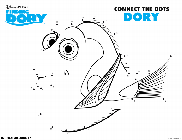Finding Dory - Connect The Dots