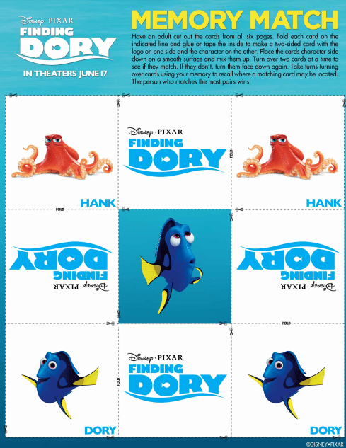 Finding Dory Matching Game #FindingDory #HaveYouSeenHer