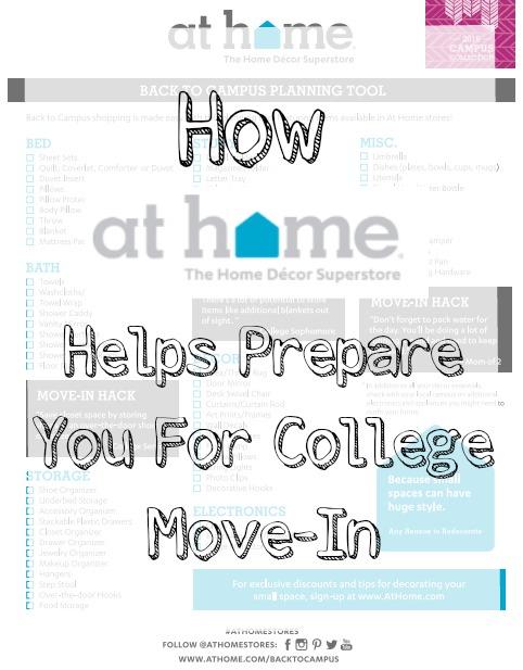 At Home College Checklist Pin