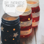 DIY Patriotic Mason Jars