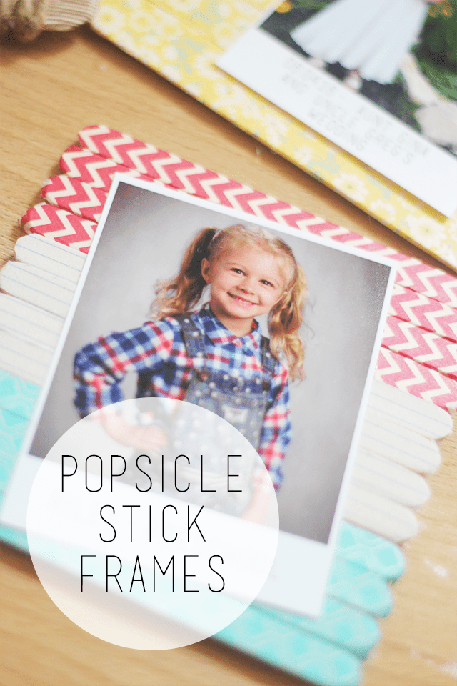 Popsicle Stick Frames - Optimistic Mommy