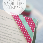 Easy DIY Washi Tape Bookmark