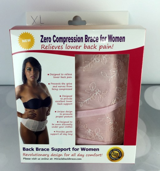 Zero Compression Back Brace for Women -01