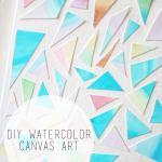 DIY Watercolor Canvas Art