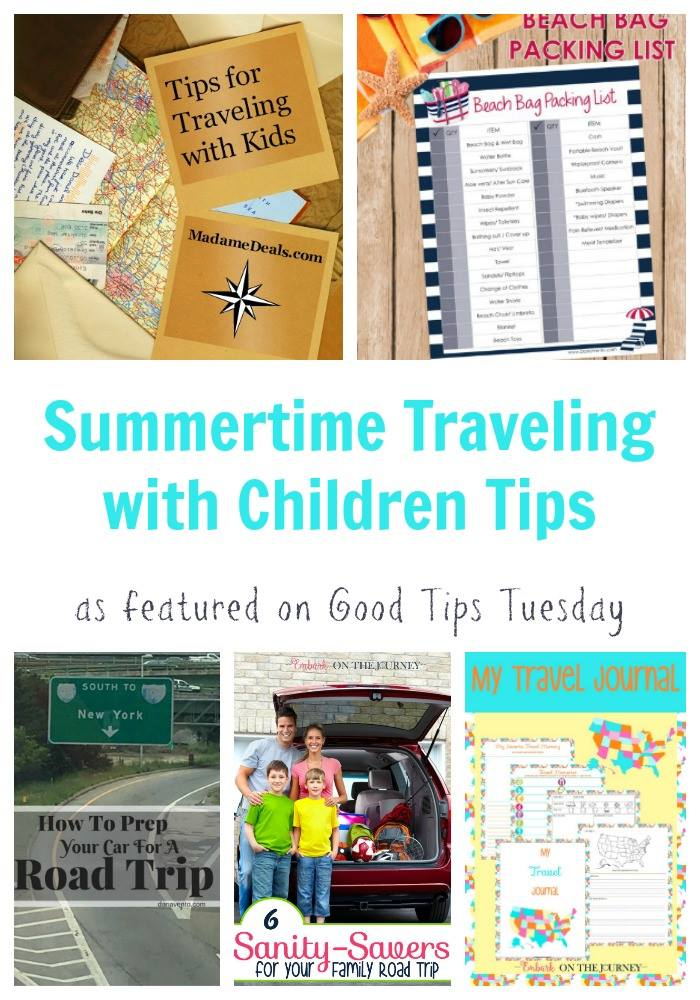 summertime traveling with children tips
