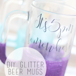 DIY Glitter Beer Mugs