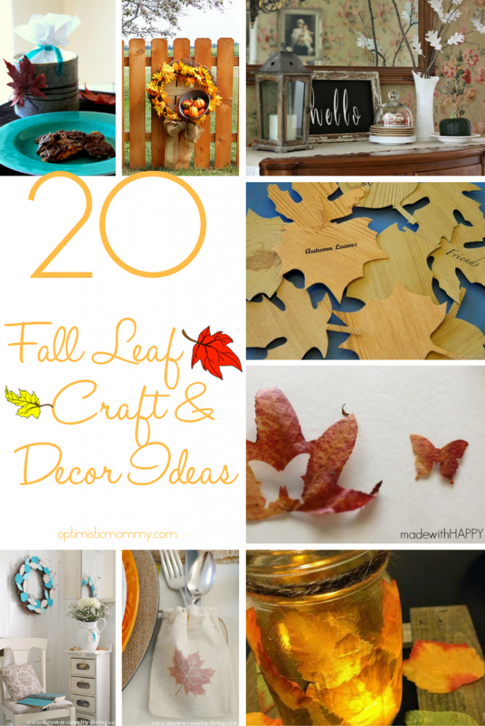 20 Fall Leaf Craft and Decor Ideas | Optimistic Mommy
