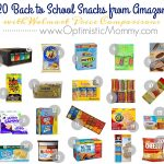 Back To School Snacks at Amazon with Walmart Price Comparisons