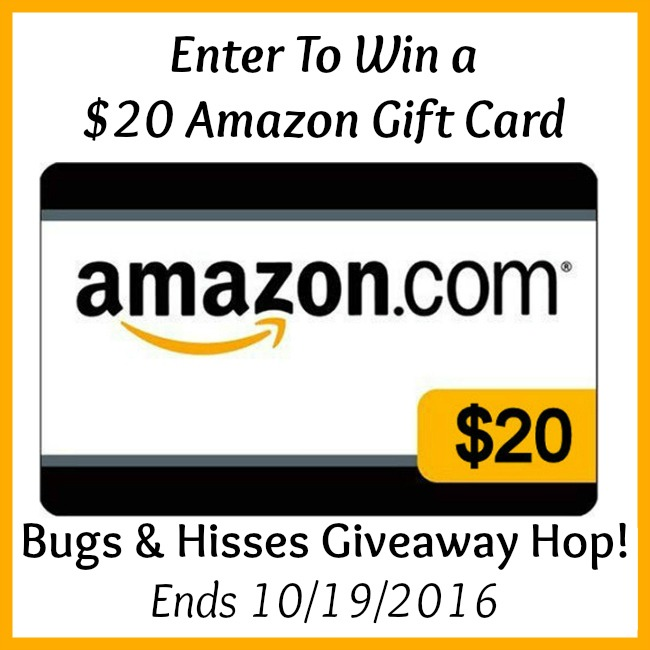 Bugs & Hisses Halloween Giveaway Hop: $20 Amazon Gift Card Giveaway - Ends 10/19/2016 | Optimistic Mommy