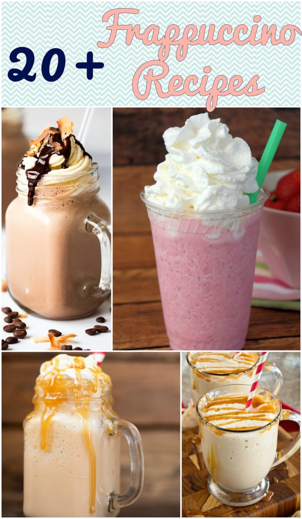 Check out over 20 frappuccino recipes, including Starbucks Copycat recipes! | Optimistic Mommy