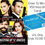 Celebrating The Release Of Keeping Up With The Joneses with a $50 Visa Gift Card Giveaway! (ends 10/28)
