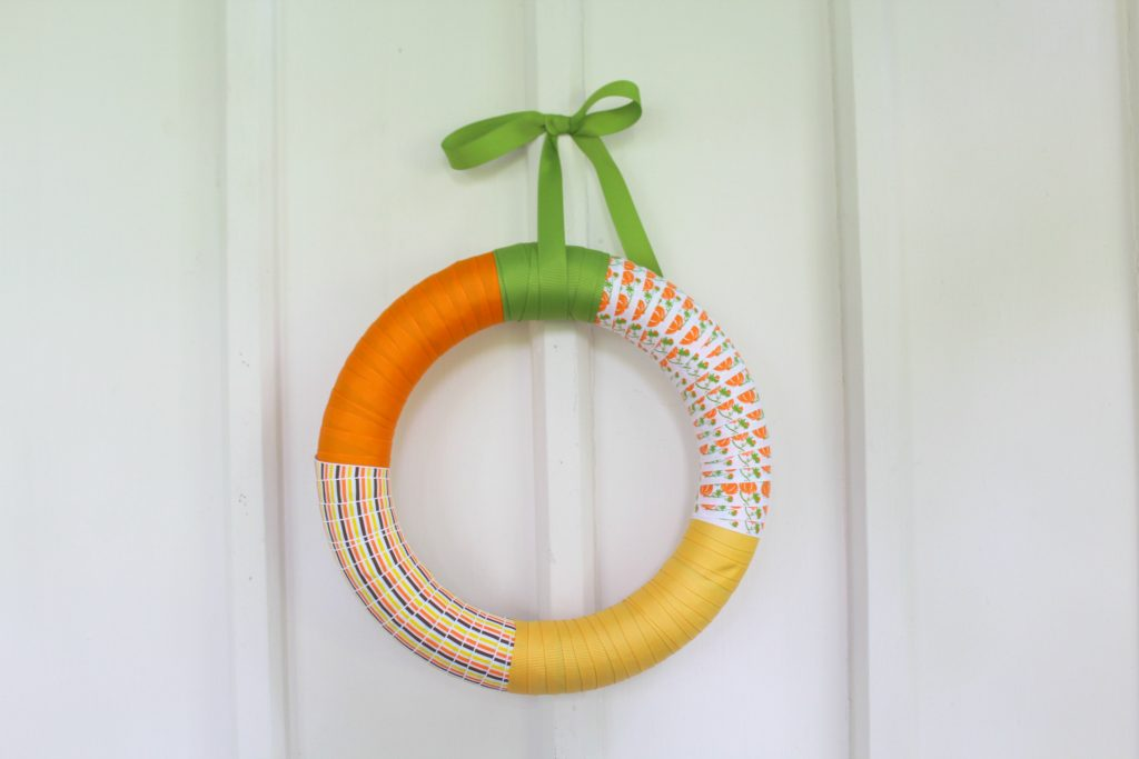 Fall Ribbon Wreath Tutorial | Optimistic Mommy