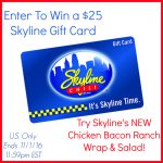 Skyline's New Chicken Bacon Ranch Wraps & Salads & Tailgating + $25 Gift Card Giveaway (Ends 11/1)