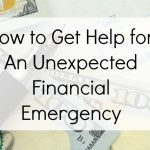 How to Get Help for An Unexpected Financial Emergency | Optimistic Mommy