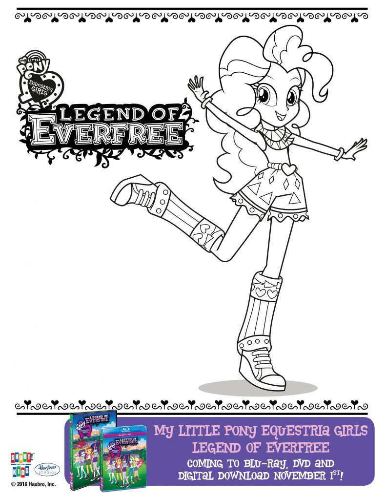Download these My Little Pony Equestria Girls Legend of Everfree coloring pages to enjoy before, during, or after the movie!