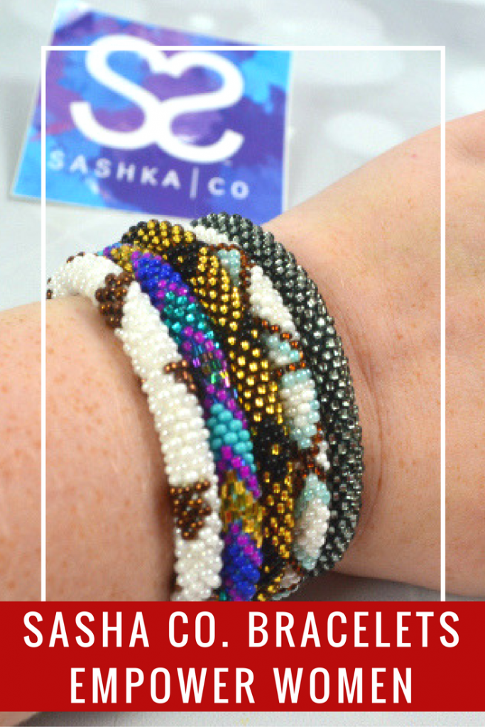 Support and empower women in need by purchasing beautifully handmade bracelets from Sashka Co. You can even earn points for your purchase to save money.