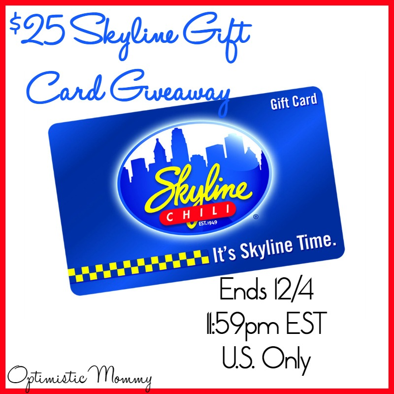Enter To Win A $25 Skyline Gift Card! Giveaway Ends 12/4/2016
