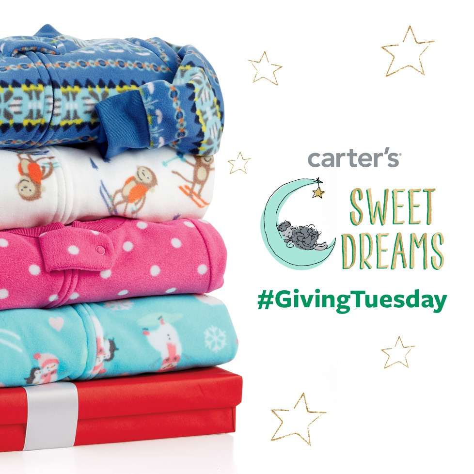 Participate In Carter's Pajama Program for Giving Tuesday Today! #GivingTuesday