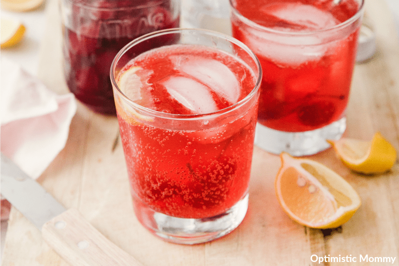 Take a drink of this Citrusy Shirley Temple Black!