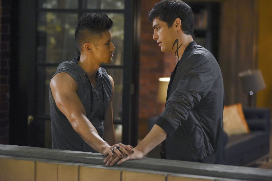"SHADOWHUNTERS – ""The Guilty Blood"" – Freeform's hit original series ""Shadowhunters"" returns on Monday, January 2 at 8pm ET/PT. (Freeform/John Medland) HARRY SHUM JR., MATTHEW DADDARIO"