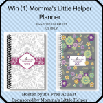 Momma's Little Helper Planner Giveaway (Ends 1/13)