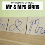 DIY Wedding Signs – Mr & Mrs Wedding Gift Idea