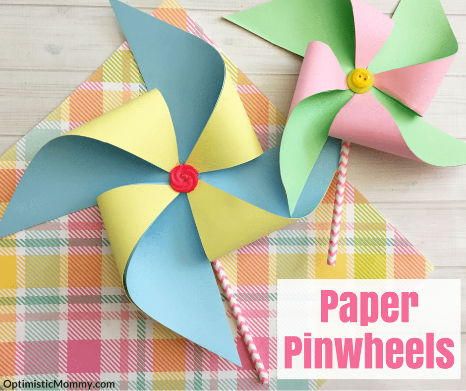 Making Paper Pinwheels Tutorial