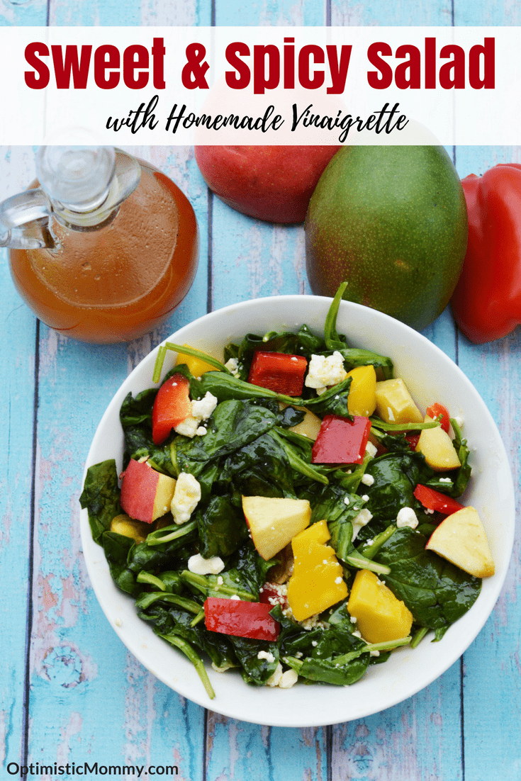 Sweet and Spicy Salad - This salad recipe will liven up your dinner! The homemade vinaigrette is amazing too!