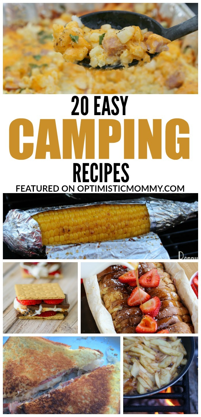 These 20 Easy Camping Recipes provide delicious meals for your family without all the fuss!
