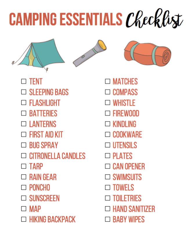 15 Essential Camping Supplies For Families Optimistic Mommy