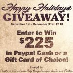 BIG Holiday Giveaway – Enter To Win $225!