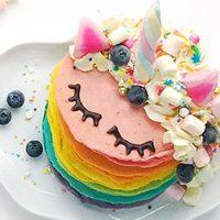 Unicorn Rainbow Pancakes