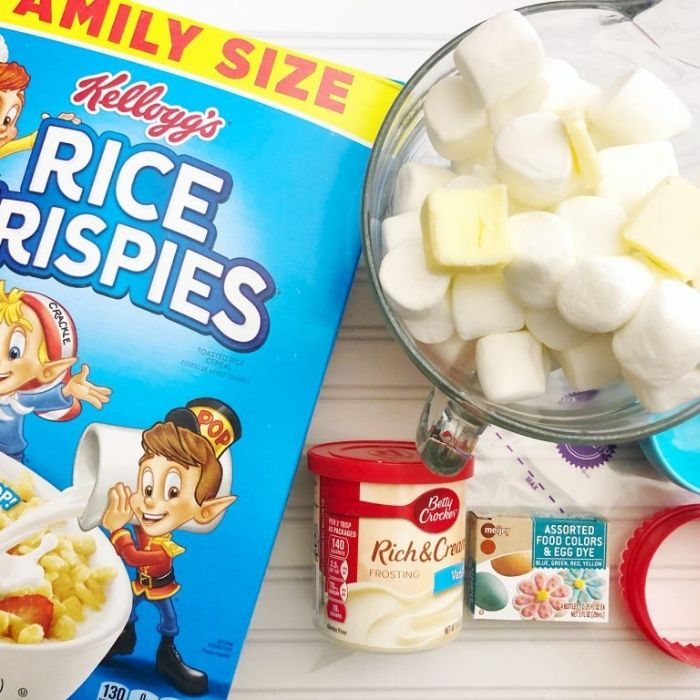 baseball themed rice krispie treats