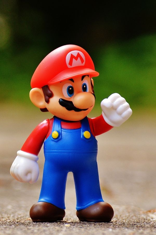 toy figure of mario