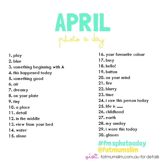 April Photo A Day Challenge - #FMSPhotoADay - @FatMumSlim