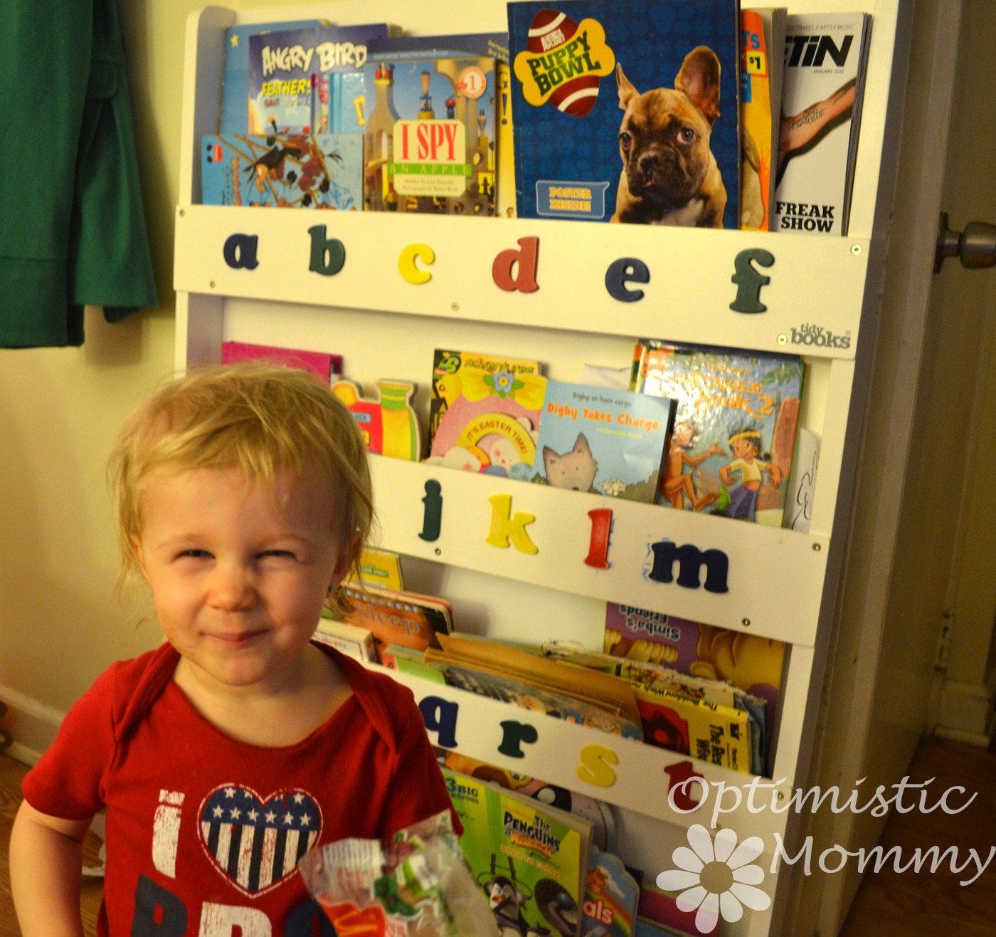 Tidy Books Children's Bookcase Review & Giveaway   Optimistic Mommy