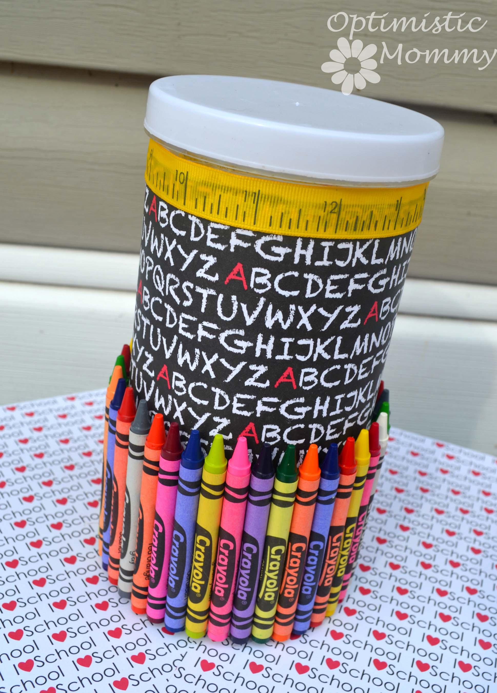 Back To School/Teacher Appreciation Pencil Holder Craft | Optimistic Mommy