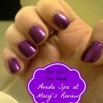 Manicure I Received at Aveda Spa and Salon at Macy's for Fall 2013 Spa Week | Optimistic Mommy