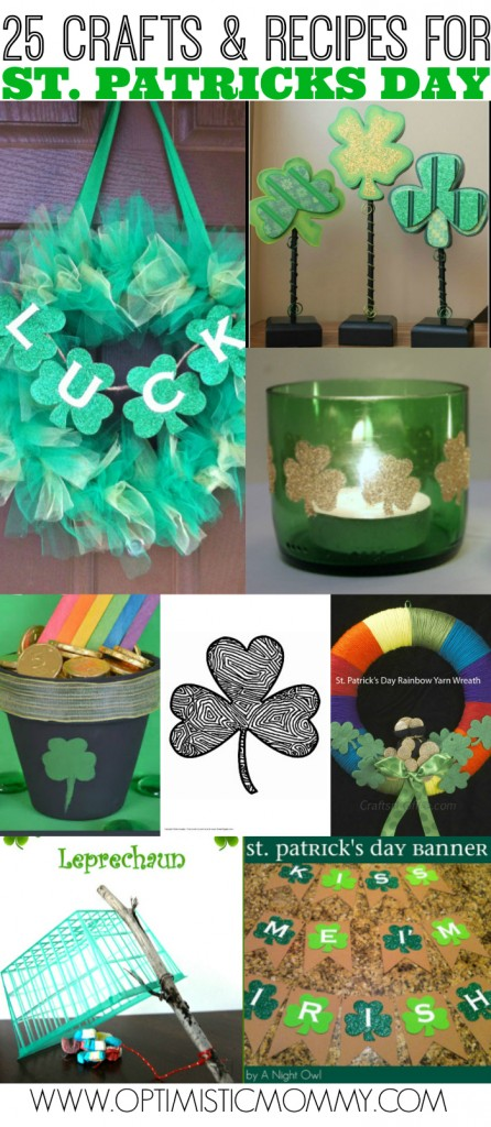25 Crafts & Recipes for St. Patrick's Day | Optimistic Mommy