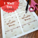 I Wuff You Valentine Printables | Optimistic Mommy