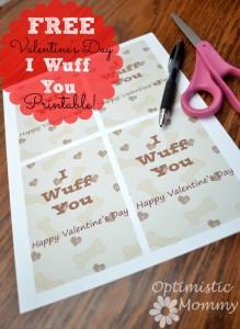 I Wuff You Valentine Printables | Optimistic Mommy