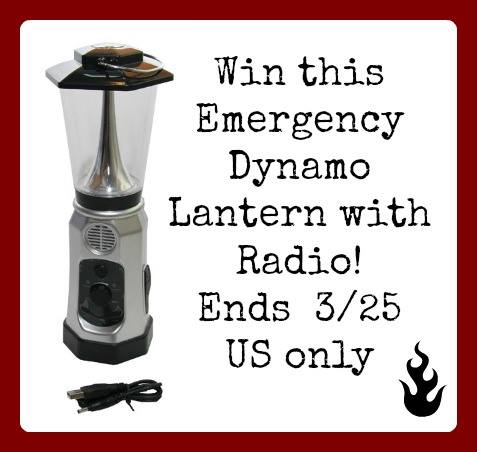 Emergency Dynamo Lantern with Radio Giveaway (Ends 3/25 - US Only) | Optimistic Mommy