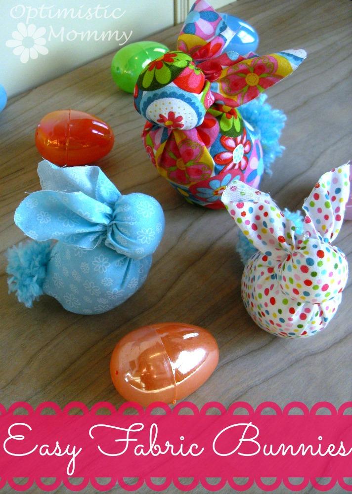 DIY Easy Fabric Bunnies