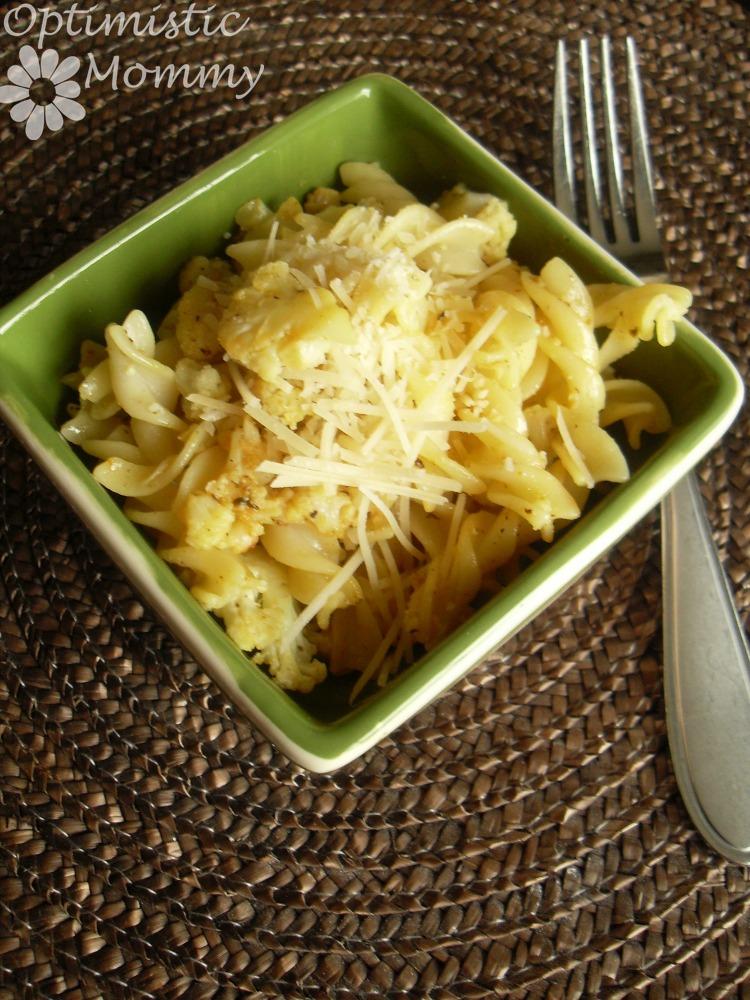 Gluten Free Lemon Pepper Cauliflower Pasta Recipe | Optimistic Mommy