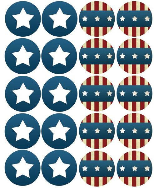 Cupcake Toppers Patriotic Printables | Optimistic Mommy