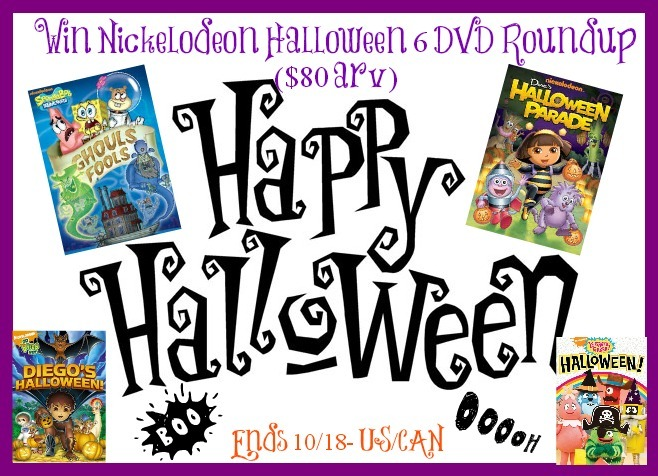 Nickelodeon Halloween 6 DVD Giveaway (Ends 10/18) | Optimistic Mommy