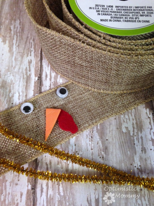 If you are hosting the Thanksgiving festivities this year, these Thanksgiving Turkey Napkin Rings should be on your to do list!  These napkin rings can be made in just minutes and for pennies each. | Optimistic Mommy