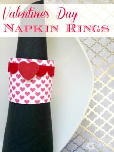 Valentine's Day Napkin Rings | Optimistic Mommy