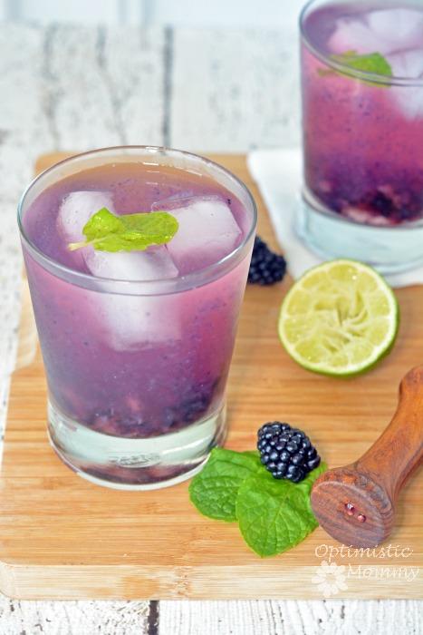 Blackberry Margarita On The Rocks